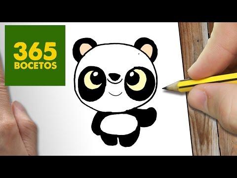 Como dibujar panda adorable