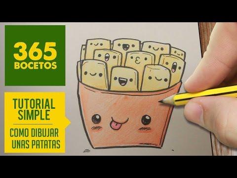 Como dibujar patatas fritas divertidas