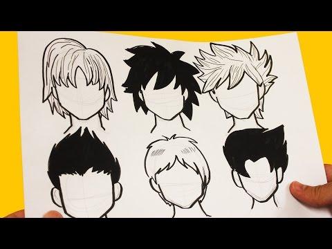 Como dibujar pelo de chico manga