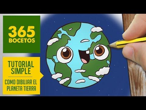 Como dibujar planeta tierra con cara