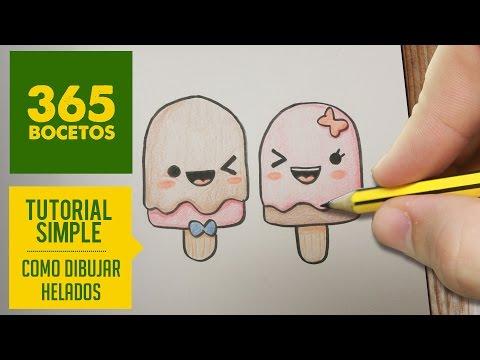 Como dibujar polos helados de verano