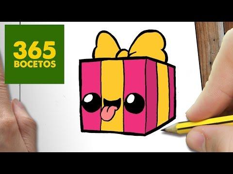 Como dibujar regalo de cumpleaños travieso