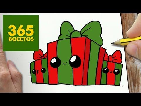 Como dibujar regalos de Navidad felices