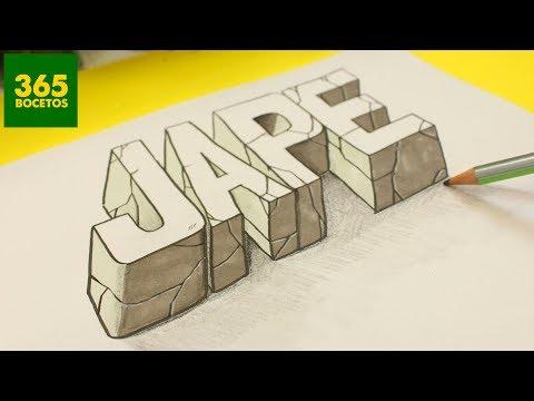 Como dibujar tu nombre en 3D paso a paso