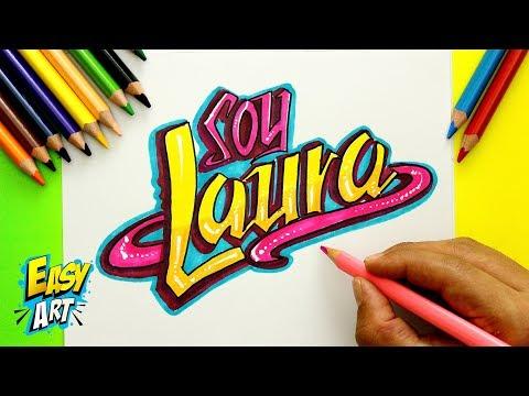 Como dibujar tu nombre estilo Soy Luna