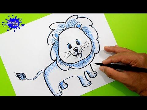 Como dibujar un adorable León