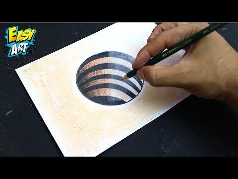 Como dibujar un Agujero en 3D muy fácil