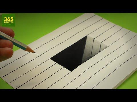 Como dibujar un Agujero en 3D