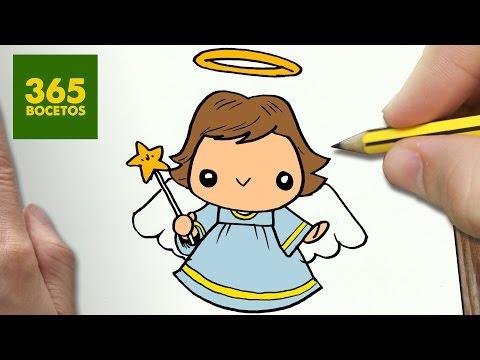 Como dibujar un ángel de Navidad