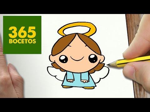 Como dibujar un Angelito navideño