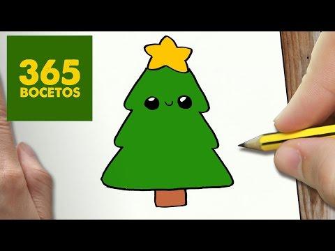 Como dibujar un Árbol de Navidad sencillo