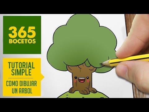 Como dibujar un árbol tranquilo