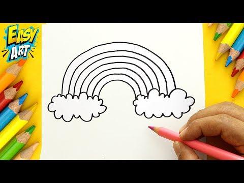 Como dibujar un Arcoiris fácil