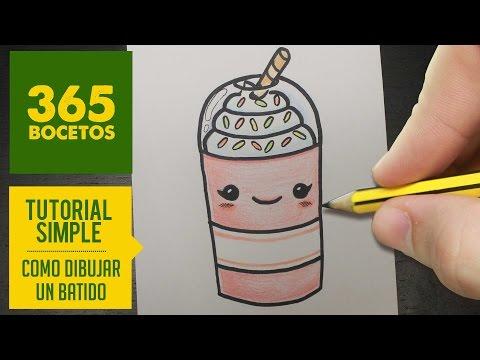 Como dibujar un Batido kawaii