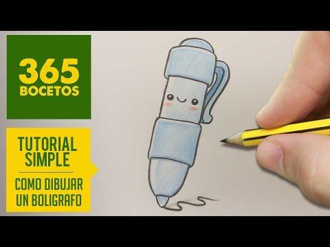 Como dibujar un bolígrafo animado