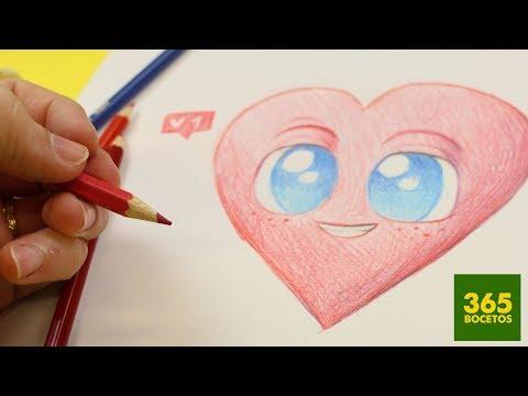 Como dibujar un bonito corazón para San Valentín