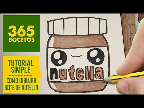 Como dibujar un bote de nutella kawaii
