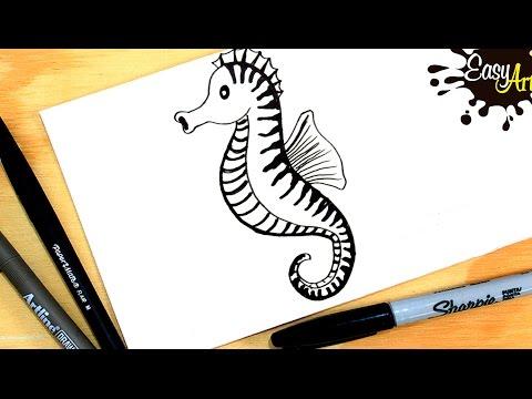 Como dibujar un Caballito de Mar