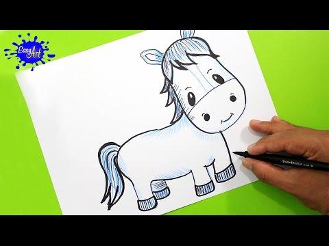 Como dibujar un Caballo fácil