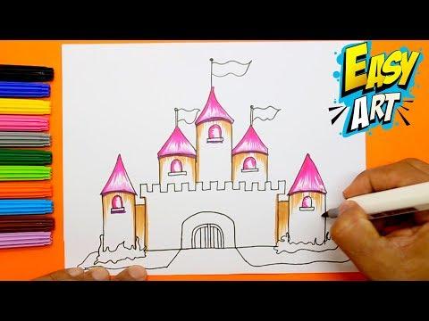 Como dibujar un Castillo de princesas