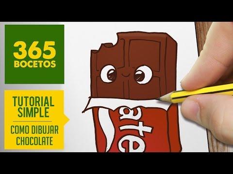 Como dibujar un chocolate kawaii