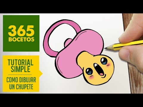 Como dibujar un Chupete kawaii