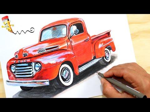 Como dibujar un coche Ford F-100