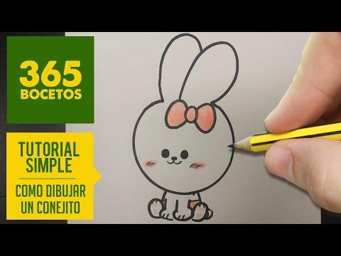 Como dibujar un conejito kawaii