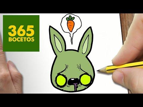 Como dibujar un Conejo Zombie