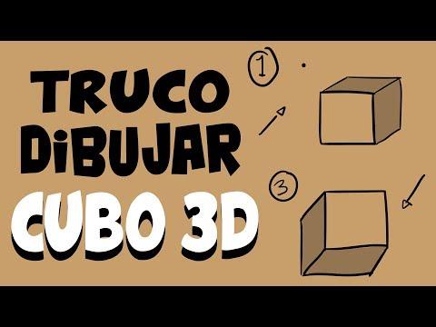 Como dibujar un Cubo en 3D fácil