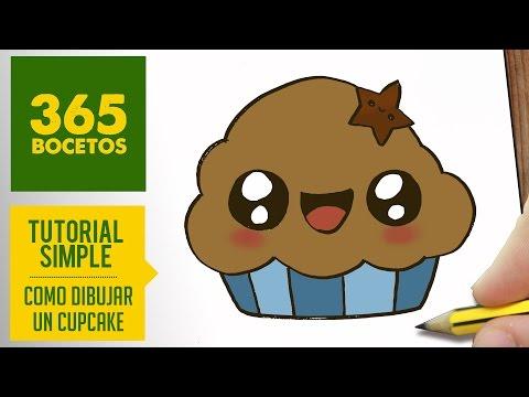Como dibujar un cupcake adorable