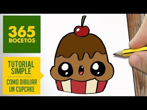 Como dibujar un cupcake con cereza