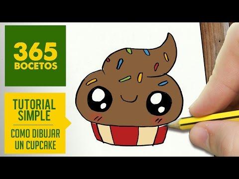 Como dibujar un cupcake con ojos