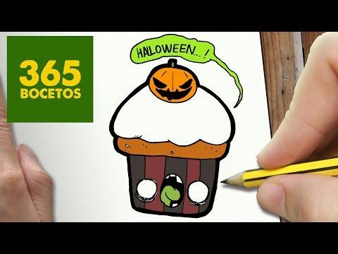 Como dibujar un Cupcake de Halloween