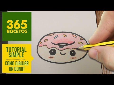 Como dibujar un Donut Kawaii