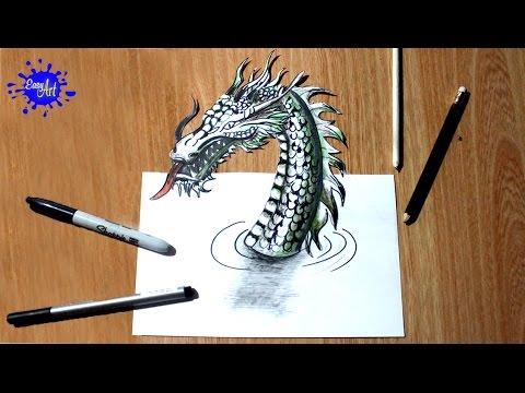 Como dibujar un dragón en 3D