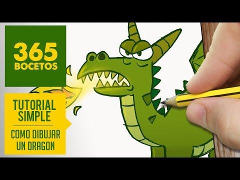 Como dibujar un Dragón escupiendo fuego