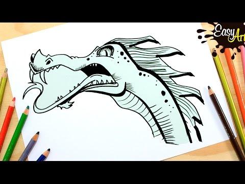 Como dibujar un dragón fácil paso a paso