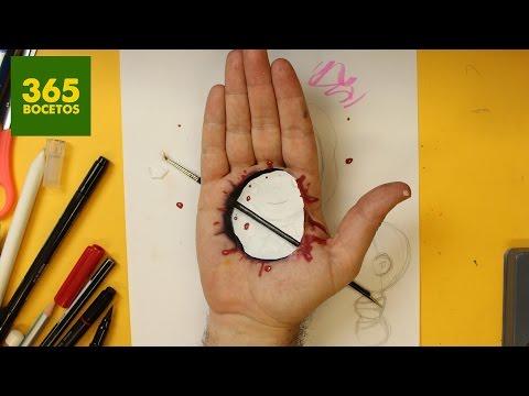 Como dibujar un efecto óptico de agujero en la mano