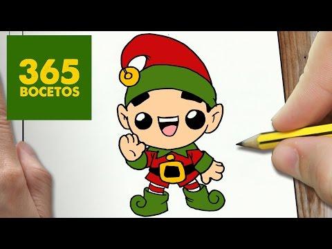 Como dibujar un Elfo de Navidad