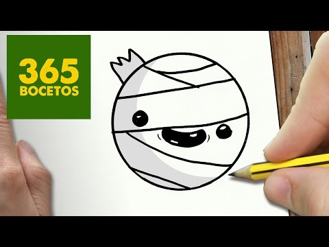 Como dibujar un Emoticono de Momia