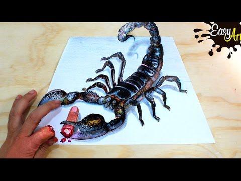 Como dibujar un Escorpión en 3D