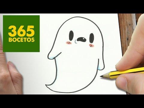 Como dibujar un Fantasma sencillo