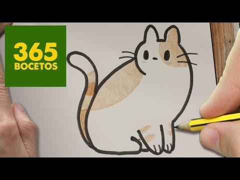 Como dibujar un gatito