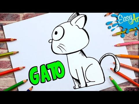 Como dibujar un Gato de perfil