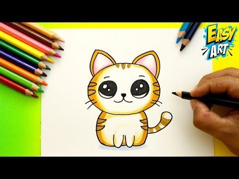 Como dibujar un Gato estilo Cute