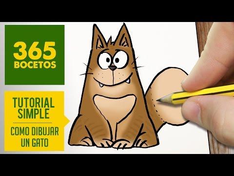 Como dibujar un gato fácil paso a paso