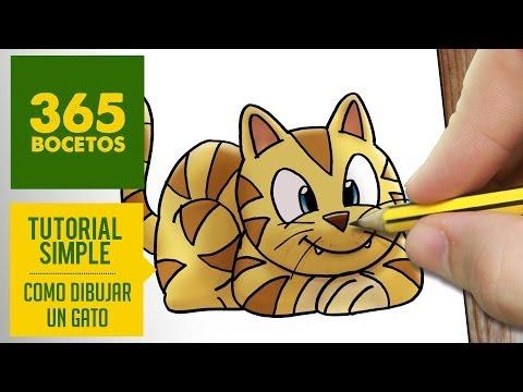 Como dibujar un gato fácil