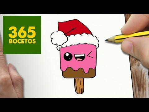 Como dibujar un Helado de Navidad