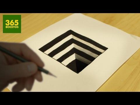 Como dibujar un Hoyo con ilusión óptica